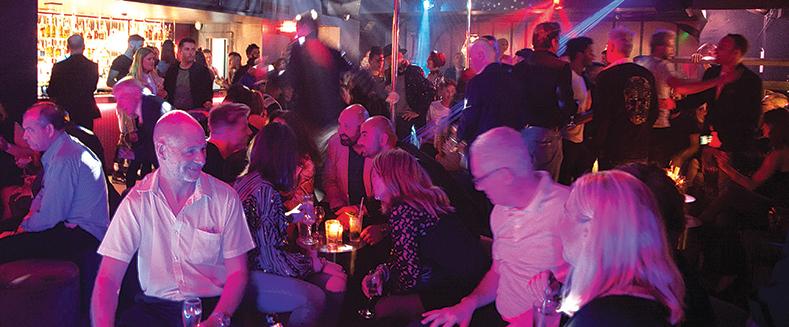 Polysexual gay late bar in soho