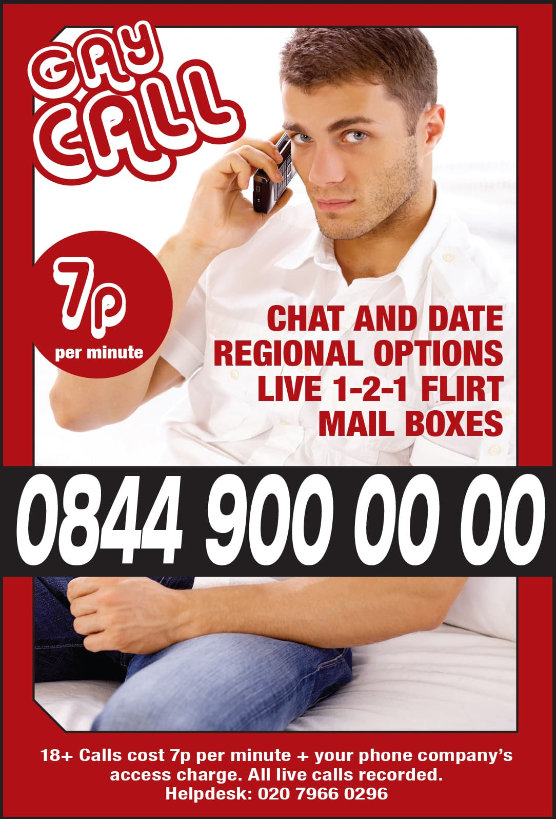 Gay Call Telephone Chat and Date
