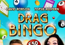 Drag bingo at a gay bar